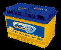 Аккумулятор АКОМ +EFB 75 А EN 720A L+