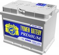 Аккумулятор  Tyumen Battery Premium 64 А EN 590A R+