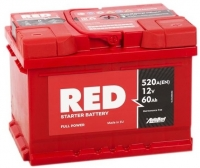 Аккумулятор RED 60 А EN 520A R+
